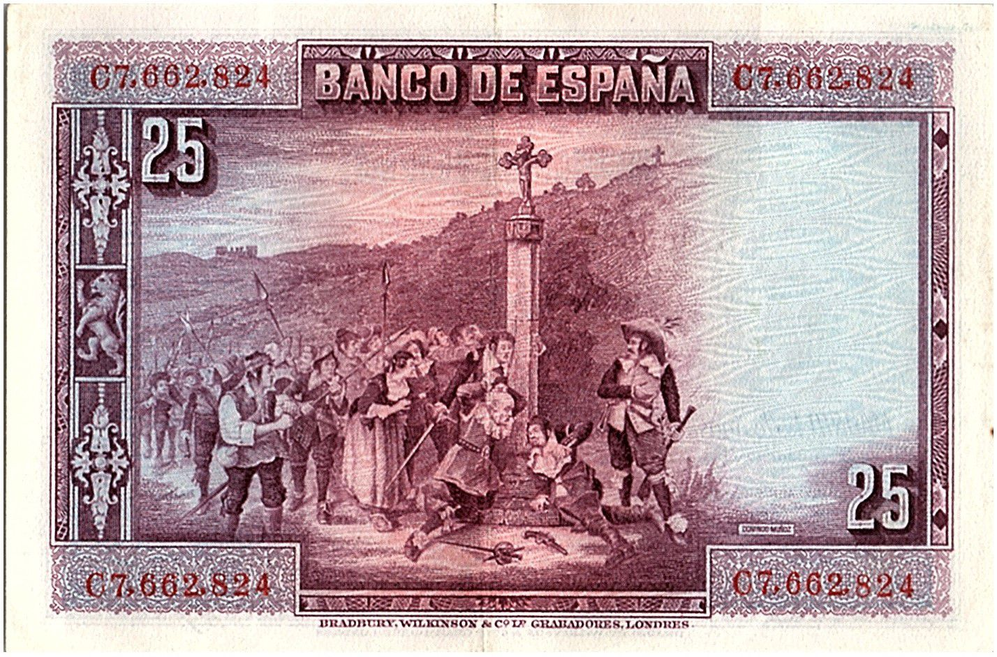 Espagne 25 Pesetas P. Calderon de la Barca - 1928 - Série C - TTB - P.74