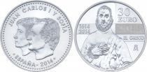 Espagne 30 Euros Juan Carlos et Sofia - El Greco 2014