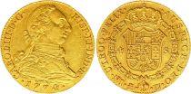 Espagne 4 Escudos Charles III - Armoiries 1774 PJ M Madrid Or