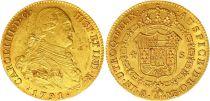 Espagne 4 Escudos Charles IV - Armoiries 1791 M MF - Madrid Or