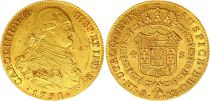Espagne 4 Escudos Charles IV - Armoiries 1791 M MF - Madrid Or