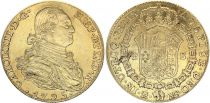Espagne 4 Escudos Charles IV - Armoiries 1795 M MF - Madrid Or