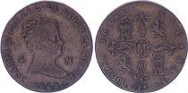 Espagne 4 Maravedis - Isabelle II - 1841- JA Jubia - KM.530 - Rare