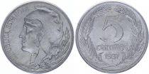 Espagne 5 centimos - République  -1937