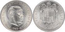 Espagne 5 Pesétas  - Francisco FRANCO  -1949 (50)