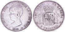 Espagne 5 Pesetas,  Alfonso XIII - Armoiries -1888 (88)