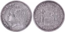 Espagne 5 Pesetas,  Alfonso XIII - Armoiries -1893 (93 ) PG V