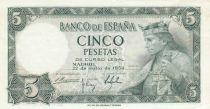 Espagne 5 Pesetas 1954 - Roi Alfonso X - Série R