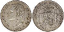 Espagne 5 Pesetas Alfonso XII - Armoiries -1876