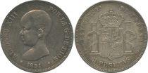 Espagne 5 Pesetas Alfonso XIII - Armoiries - 1891