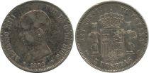 Espagne 5 Pesetas Alfonso XIII - Armoiries - 1892