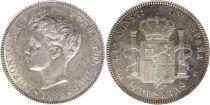 Espagne 5 Pesetas Alfonso XIIi - Armoiries - 1899 (99) SG-V