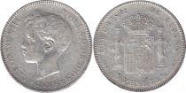 Espagne 5 Pesetas Alfonso XIII - Armoiries -1898