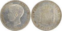 Espagne 5 Pesetas Alfonso XIII - Armoiries -1899 (--)