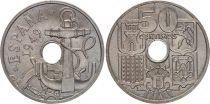 Espagne 50 centimos - Armoiries, Ancre  -1949(51)