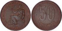 Espagne 50 centimos - Femme assise  -1937