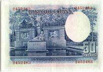 Espagne 50 Pesetas, Santiago Ramon y Cajal - 1935 - SUP - P.88