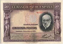 Espagne 50 Pesetas, Santiago Ramon y Cajal - 1935 - TTB - P.88