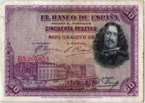 Espagne 50 Pesetas D. Vélasquez