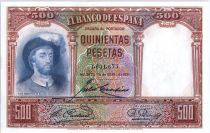Espagne 500 Pesetas  -  J. S. de Elcano - 1931