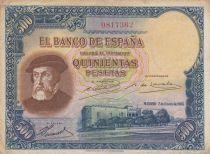 Espagne 500 Pesetas Herman Cortes - 1935 - P.TTB - P.89