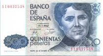 Espagne 500 Pesetas Rosalia de Castro - 1979