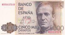 Espagne 5000 Pesetas Juan Carlos - Palais Royal 1979
