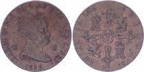 Espagne 8 Maravedis - Isabelle II - 1857 - KM.531