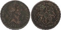 Espagne 8 Maravedis Charles III - Armoiries - 1778
