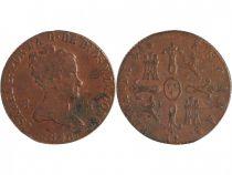 Espagne 8 Maravedis Isabelle II - Armoiries - 1846
