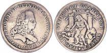Espagne Ferdinand VI- Médaille de Proclamation 1746 - Cadiz sur un module de 4 Reales - Argent