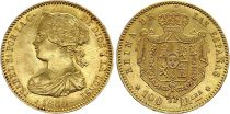 España 100 Reales Isabel II - Arms - 1864 - Madrid - Gold