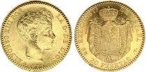 España 20 Pesetas Alfonso XIII - Arms - 1899 - Gold
