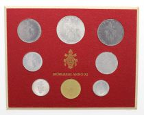 Estado Vaticano Mint set of 8 coins Paul VI 1973 Roma