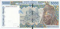 Estados de África del oeste 5000 Francs Fábrica - Alfarería - 2002 - Costa de Marfil