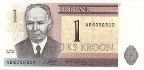 Estonia 1 Kroon K.Raud, Toampea\'s Castle - 1992 - UNC - P.69