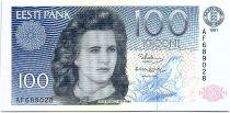 Estonia 100 Krooni - Lydia Koidula (1843-1886) - 1991 - P.74 - UNC