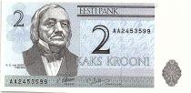 Estonia 2 Krooni - K.E. Von Baer - University of Tartu - 1992 - P.70 - Neuf