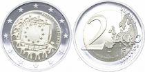 Estonie 2 Euro 30 ans du Drapeau Européen - 2015