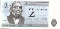 Estonie 2 Krooni - K.E. Von Baer - Université de Tartu - 1992 - P.70 - Neuf