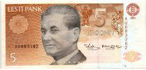 Estonie 5 Krooni 1991 - Paul Keres, Ville de Viis