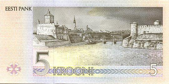 Estonie 5 Krooni Paul Keres - Forteresse Teuton