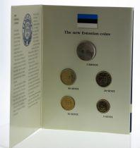 Estonie Série 5 pièces BU 1992 - Lions