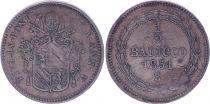 Etat Pontifical 1/2 Baiocco  - Pivs IX - 1851 B V