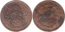 Etat Pontifical 5 Baiocchi Pie IX - 1853 R