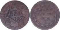 Etat Pontifical Mezzo Baiocco  - Pivs IX - 1848 R III