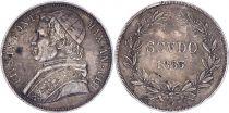 Etat Pontifical Scudo,  Pie IX - VIII - 1853 R Rome