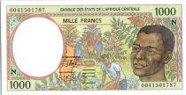 Etats de l´Afrique Centrale 1000 Francs Cueillette du café - Exploitation Forestière - 2000 - Guinée Equatoriale