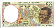 Etats de l´Afrique Centrale 1000 Francs Cueillette du café - Exploitation Forestière - 2000 -Tchad