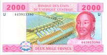 Etats de l´Afrique Centrale 2000 Francs Femme - Tracteur - 2002 - Cameroun